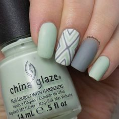 Minty Matte Nails