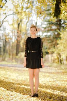 All black outfit. I love the detailing on the sleeves!