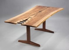 Spectacular Trestle Dining Table by George Nakashima image 2