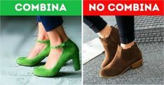 Cómo combinar color de zapatos
