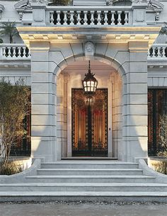 I'd love to pass by Classic House Design, House Front Design, Grand Entrance, Entrance Doors, Gate Design, Door Design, Classic Architecture, Architecture Details, Building Front