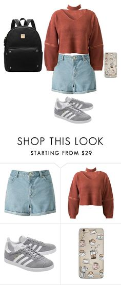 """""""Untitled #78"""" by rowanstella-1 ❤ liked on Polyvore featuring Miss Selfridge, WithChic and adidas Originals"""