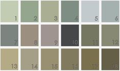 Sacred Space Paint Colors muted gray earth tones soft blue green purple lavender taupe gray brown sage olive slate tan neutral The Decor Guru
