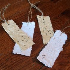 Seeded Paper Bookmark