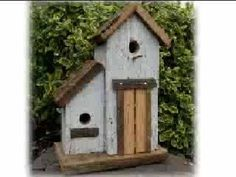 DIY rustic bird houses | DIY Project: repurpose antique barnwood, build a pergola for your ...