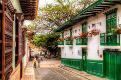 Ciudad Bolívar, Colombia | Street in Ciudad Bolivar near the main square.