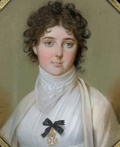 Emma Lady Hamilton 1800, by Johann Heinrich Schmidt, via Flickr. I read that Nelson had this with him when he was killed at Trafalgar.
