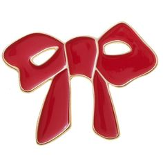 Enamel Bow Brooch ($4.02) ❤ liked on Polyvore featuring jewelry, brooches, brooch, red, bow, bow brooch, enamel brooches, bow jewelry, red jewelry and red jewellery