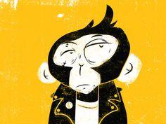Punk Monkey #monkey #illustration