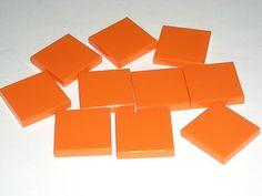 LEGO 10 Orange 2 x 2 Tiles 2x2 3840 $2.49