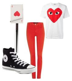 """""""card guard"""" by autumn-xiv on Polyvore featuring Comme des Garçons, J Brand and Converse"""