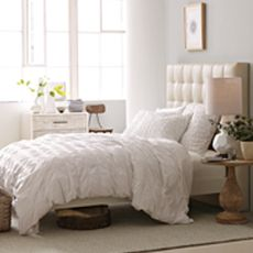 Something about upholstered headboards...dreamy...