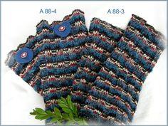 Armstulpen aus Strickstoff, blau-rot-grau von Alpen-Juwel auf http://de.dawanda.com/product/75662871-Armstulpen-aus-Strickstoff-blau-rot-grau
