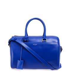 df88bfe08c34 Saint Laurent Classic Duffle 6 Bag in Bright Blue Calfskin Leather Leather  Duffle Bag
