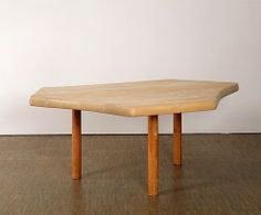 Charlotte Perriand; Fir and pine Prototype Freeform Table by Charpentiers de Paris, 1938.