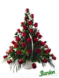 Cesta de Rosas   San Valentín