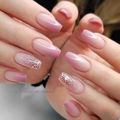 Are you looking for a gel nail art design and ideas? See our interesting collection of gel nail designs. I hope you can find the one you like best. Gel Nail Art Designs, French Nail Designs, Ombre Nail Designs, French Manicure With Design, Natural Nail Designs, Beautiful Nail Designs, Blush Nails, Pink Ombre Nails, Dusty Pink Nails