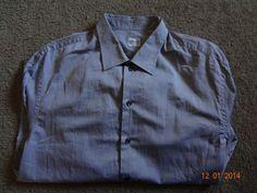 Armani Collezioni Men's 2XL Gray 100% Cotton Button-Front Long Sleeve NWT Wow #ArmaniCollezioni #ButtonFront