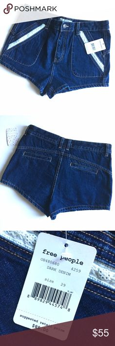 """Free People Sweet Surrender Jean Shorts Free People sweet surrender shorts NWT.                          -Zip fly with button closure - 4 pocket construction - Topstitched detailing - Approx. 10.5"""" rise, 2"""" inseam - Imported Free People Shorts Jean Shorts"""