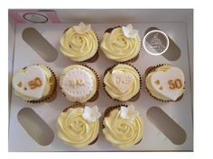Golden Wedding Cupcakes