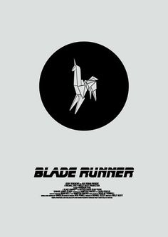 Favourite alternate Blade Runner poster: Gaff's little origami unicorn: really simple.