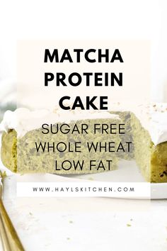 A healthy but still amazing Matcha Protein Cake with Japanese green tea flavor, subtle sweetness and soft sponge cake texture. This healthy matcha cake recipe is sweetened with protein powder, has no sugar and very little butter - the perfect healthy matcha dessert! Protein Desserts, Protein Cake, Sweet Desserts, Matcha Dessert, Matcha Cake, Protein Powder Recipes, Vanilla Protein Powder, Matcha Green Tea Powder, Round Cake Pans
