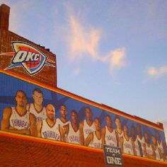 Bricktown celebrating the OKC Thunder.