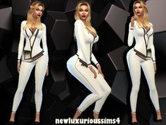 IT'S JUST BUSINESS outfit at NEW Luxurious Sims 4 via Sims 4 Updates