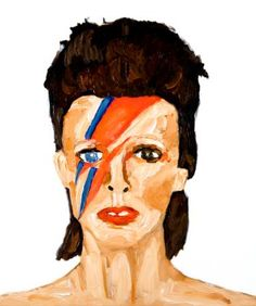 David Bowie Oil on canvas #art #davidbowie 21 1/2 by 18 inches © Neal Turner 2016 http://stores.ebay.com/GALLERY-ANT
