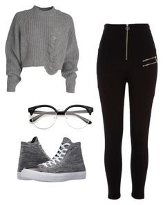 """""""Untitled #158"""" by paolaporoj on Polyvore featuring River Island and Converse"""