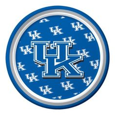 """Creative Converting Kentucky Wildcats Dessert Paper Plates (8 Count) by Creative Converting. $4.98. Measures 7"""" diameter. 8 count. See Creative Converting's coordinating line of party favors and dinnerware - inflatable fingers, wrist bands, head bands, pom poms, cheer sticks, cups, plates, napkins, chip trays and décor. The perfect supplies for your tailgating, Bowl game or sports themed party - show your team spirit and pride. Collegiate NCAA team logo dessert paper plat..."""