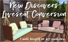 New Discovers Loveseat by Sympxls at SimsWorkshop • Sims 4 Updates