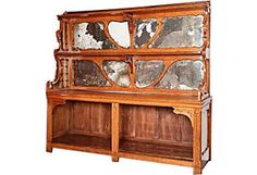 French Art Nouveau Bakery Cabinet