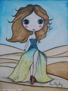 Carrie Bradshaw por Jana Magalhães ;)  (so cute) #sexandthecity