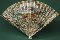 century French fan from the collection of Queen Alexandra of the United Kingdom. Antique Fans, French School, 18th Century, Antiques, Hand Fans, United Kingdom, Queen, Awesome, Accessories