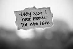 I love this:)   I have lots of scars...