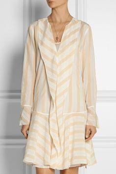 By Malene Birger Astree striped silk-crepe dress NET-A-PORTER.COM