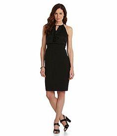 London Times LaceBack Combo Dress #Dillards