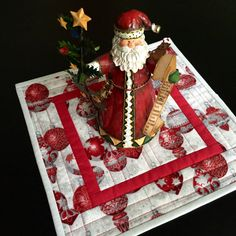 Holiday Table Topper-Christmas by PeggyGaylerDesigns on Etsy