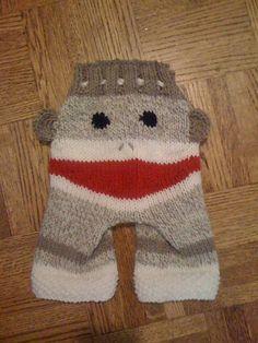 Ravelry: Adjustable Sock Monkey Longies/Shorties pattern by Alison McCallister