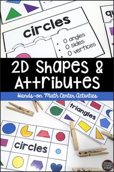This 2D shape resource is filled with hands-on math centers perfect for students in second and third grade. These activities go beyond simple shape recognition and ask students to think deeply about shape attributes as they categorize shapes and explain their thinking using math language and vocabulary. Teaching Second Grade, Second Grade Teacher, 2nd Grade Classroom, Third Grade Math, Activity Centers, Math Centers, Teaching Phonics, Elementary Math, Math Teacher