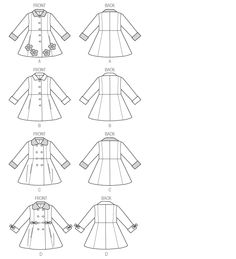 B5946 | Children's/Girls' Coat | Children/Girls/Boys | Butterick Patterns