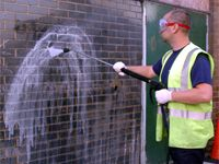 "Graffiti Removal Service  It can damage your image by creating an ""unsafe"" or ""un-secure"" feeling in the eyes of visitors to your facility, shopping center or business.  The good news is we can help restore graffiti marked areas to their original condition through specially designed removal agents, paints or coatings that can even make for an easy clean-up in case of future graffiti attacks.#AmericanFacilityServices#GraffitiRemoval"