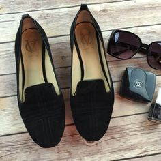 Vero Cuoio black Suede Leather slide on flats Great condition. Very comfy.  Simple style that matches everything. Vero cuoio Shoes Flats & Loafers