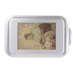 Mother Mary And Baby Jesus Cake Pan http://www.zazzle.com/mother_mary_and_baby_jesus_cake_pan-256943542532786250?rf=238271513374472230  #christmas  #christmasdécor