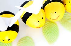 Cute DIY bees with heart wings!