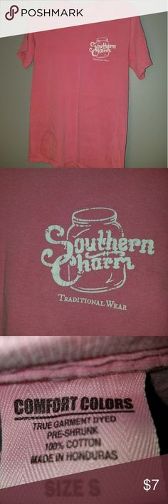 🤠pink tshirt🤠 💰🛍BUNDLE & SAVE💰🛍 /\Pink southern charm tshirt. From Cherokee, NC. Great condition. Snug fit/\ 🚫🚭Any & everything in my closet is from a smoke free home🚫🚭 Southern Charm Tops Tees - Short Sleeve