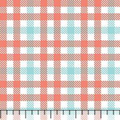 "Candy Plaid Coral Aqua Cotton Jersey Blend Knit Fabric   An Exclusive from the Girl Charlee Collection! Gingham style candy plaid print in fusion coral and aruba aqua blue colors on our signature white super soft cotton jersey blend knit. Fabric is light to medium weight with a nice stretch and fluid drape. Plaid squares measure 1/4"". Made in Los Angeles! $6.50"