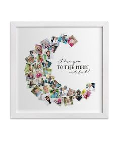 Love You to the Moon and Back Print and Frame | Personalized photo gifts—from edibles to organizational tools—showcase mom's finest snapshots.