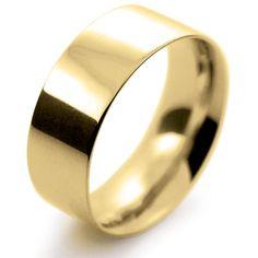 18ct Yellow Gold Wedding Ring Flat Court Medium - 8mm
